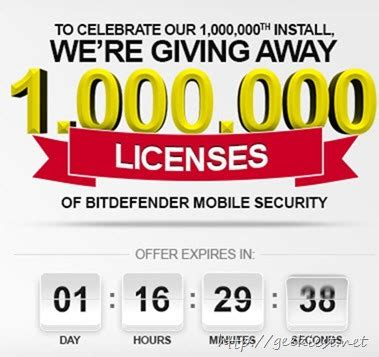 Bitdefender Mobile Security Giveaway - giveaway 1 million free bitdefender mobile security licenses geekiest net