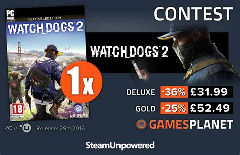 dogs 2 steam giveaway chance to win watch dogs 2 steam unpowered