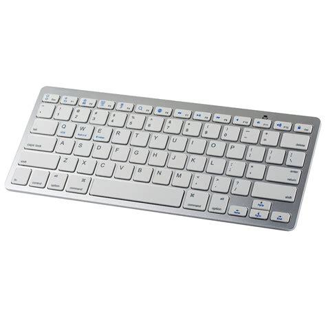 Keyboard Bagus Wireless Bluetooth Keyboard Silver Jakartanotebook