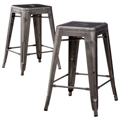 Target Counter Height Stools by Carlisle 24 Quot Metal Counter Stool Set Of 2 Metal Counter Stools Industrial And Metals