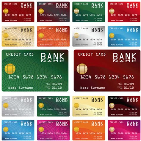 credit card design template vector credit card vector template set free vector in