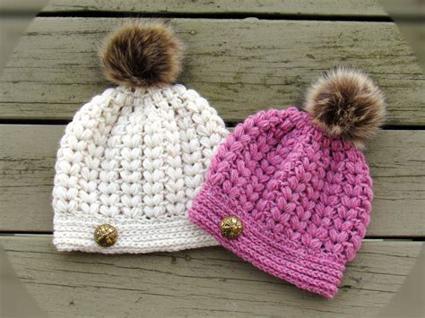 pattern hat crochet crochet dreamz pearl beanie puff stitch crochet hat pattern