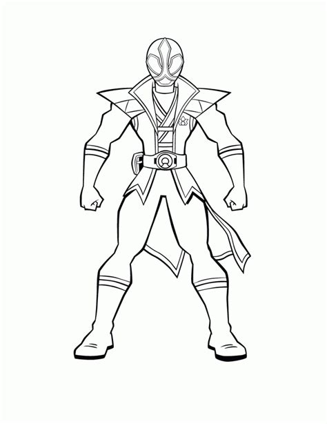 Free Printable Power Rangers Coloring Pages For Kids Power Rangers Samurai Coloring Pages