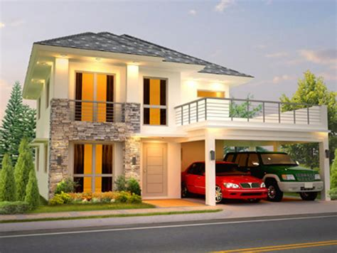 2 storey house design with terrace house design ideas
