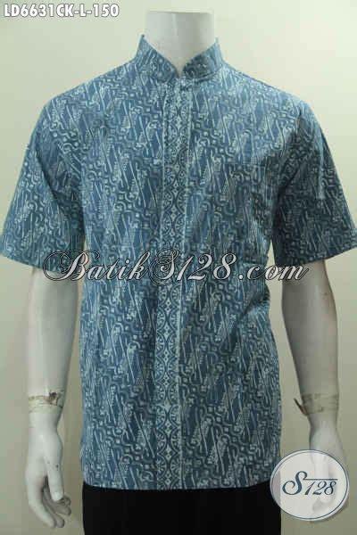 Hem Batik Shanghai kemeja batik muslim hem batik lengan pendek kerah