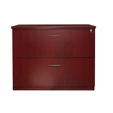 Mahogany Lateral File Cabinet 2 Drawer Mayline Medina 2 Drawer Lateral File Cabinet In Mahogany Mvlflmh