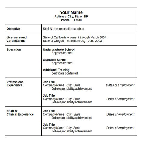 Resume Words For Nurses Sle Resume 10 Free Documents In Word Pdf