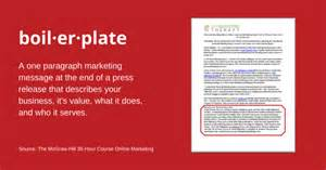 what is a boilerplate