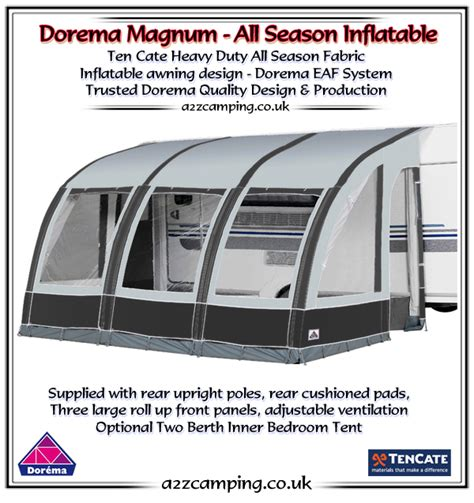 Caravan Awnings Direct 2018 Dorema Magnum Air 390 All Season Inflatable Awning