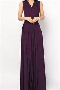 eggplant long convertible infinity dress bridesmaid dress