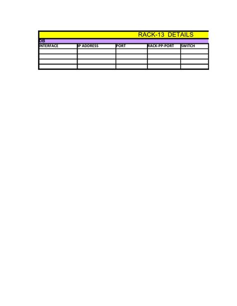 rack documentation template