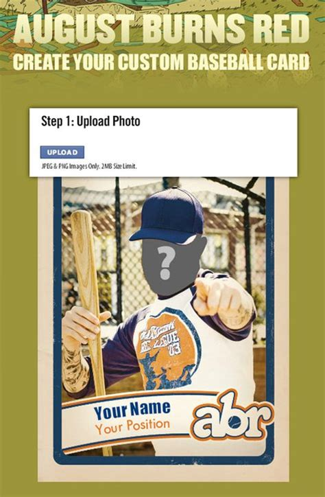 make a baseball card august burns want fans to create custom baseball cards