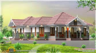Kerala Home Design Veranda Single Floor Courtyard 4 Bedroom House Kerala Home