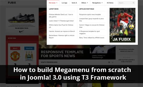 create joomla 3 template from scratch how to build mega menu from scratch in joomla 3 0 using t3
