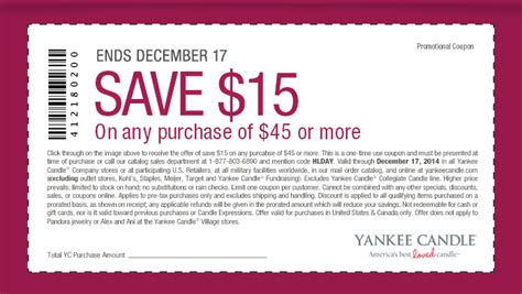 yankee candle coupons 15 off 45 printable yankee candle coupons 15 off 45 at yankee candle or