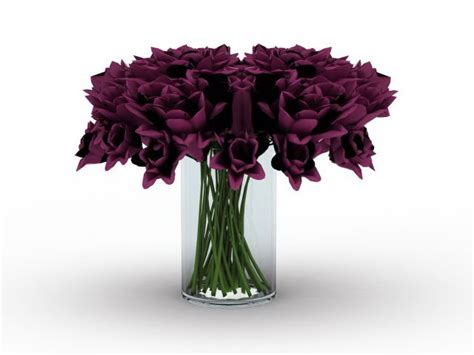 Glass Vase With Flowers by Glass Vase With Flowers 3d Model 3ds Max Files Free