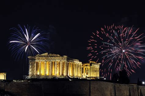 new year gr best spots to fireworks on new year s in greece