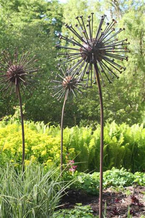 Gardens For Sale by Sculpture Seed Steel Garden Seed Heads Yard Statue By Sculptor David Mayne In