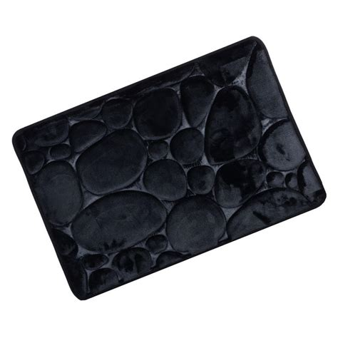 Memory Foam Bath Mat Black by Soft Memory Foam Pebble Patterned Shower Bath Mat Bathroom