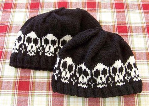 knitted skull hat pattern spooky and made by you craft projects