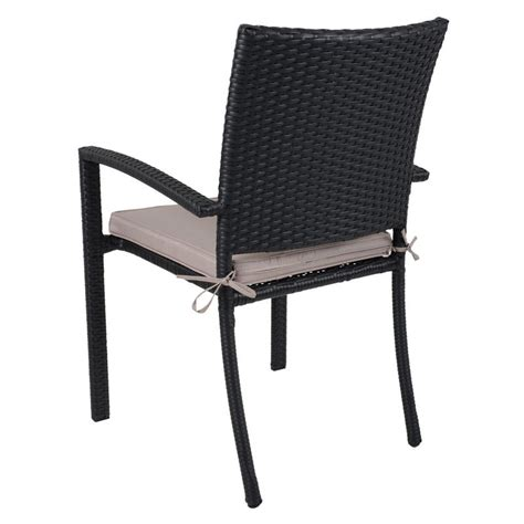 black siena rattan wicker garden extending dining table