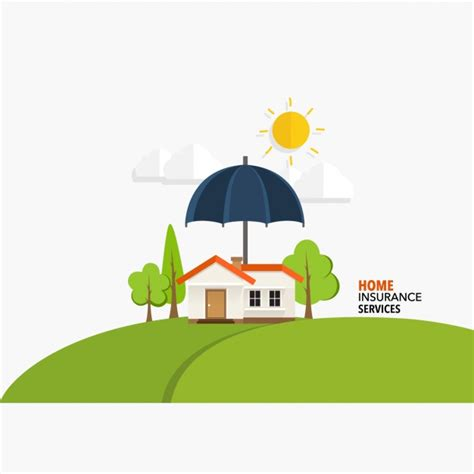 home insurance services background vector free