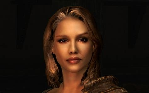 Skyrim Realistic Npc Hair | lovely jessica more natural and realistic hair at skyrim