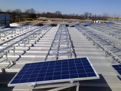 Solar Rack by Columbus Ohio S Fleet Maintenance Building Uses Tra S