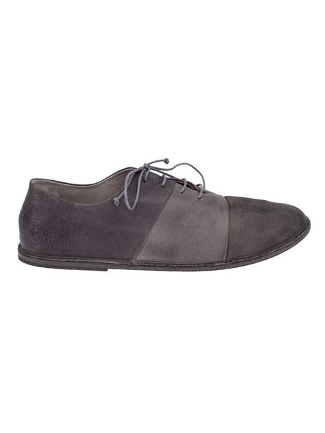 mens gray oxford shoes marsell distressed oxford shoes in gray for grey lyst