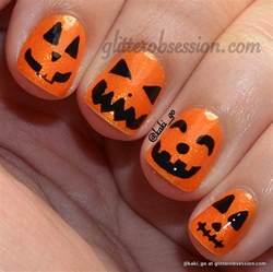 glitter obsession halloween nail art ideas
