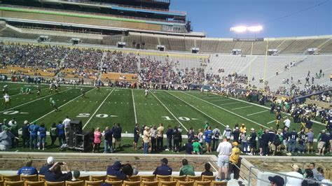 notre dame stadium sections notre dame stadium visitor preferred seating