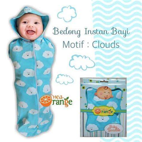 Bedong Instan Motif Clouds 1 bedong instan orange motif bayi perempuan elevenia