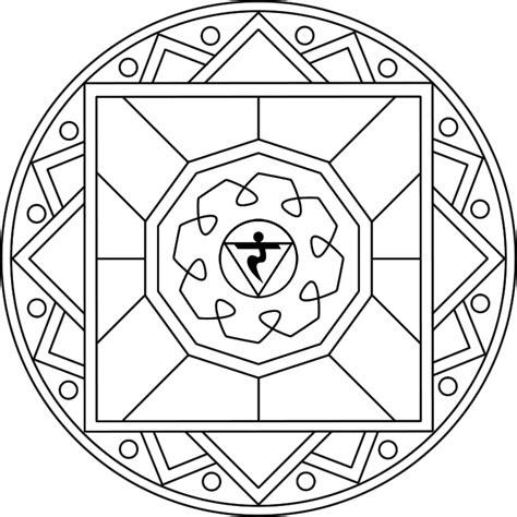 free coloring pages of chakra mandala