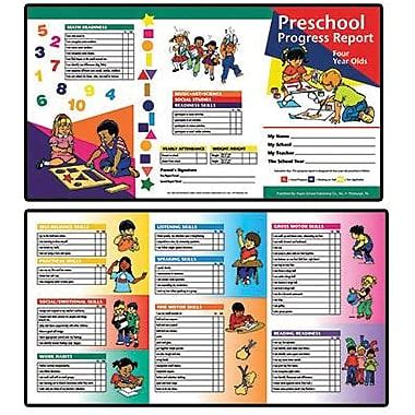 spot it card template for 3 year olds 174 progress report card 4 years staples 174