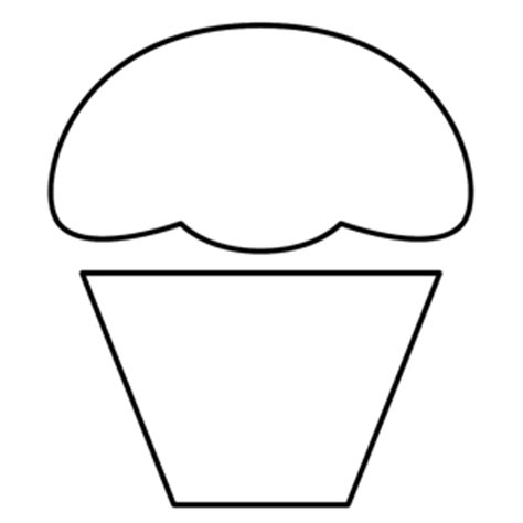 free printable cupcake template free applique patterns