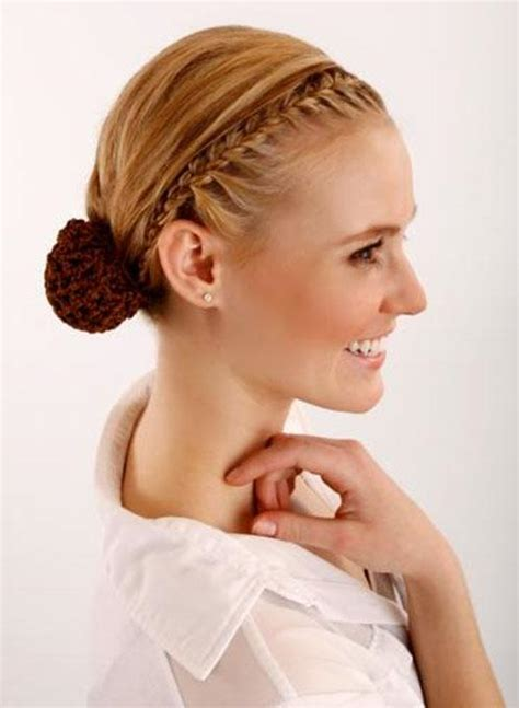 front hairstyles with a bun front braid updo hairstyle with side ponybun ballerina