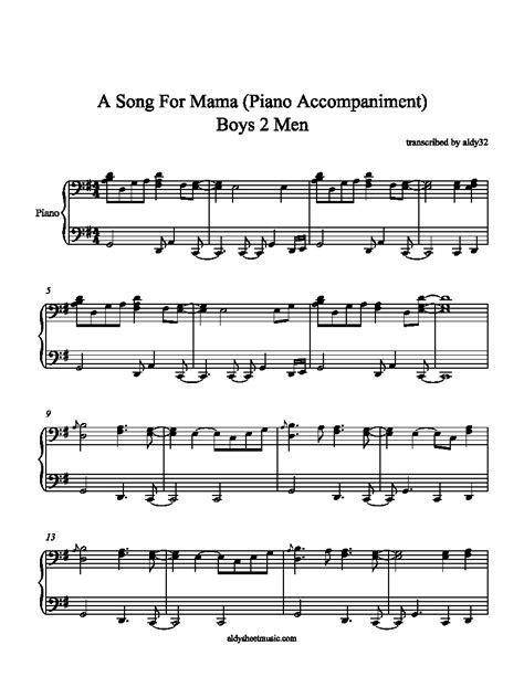 boys men song for mama aldy sheet music a song for mama boys 2 men piano