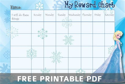 printable star reward chart 9 best images of frozen printable responsibility charts