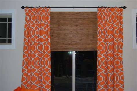 Geometric Orange Curtains Orange Geometric Curtains Orange Polyester Printed Geometric Pattern Bedroom Curtains And