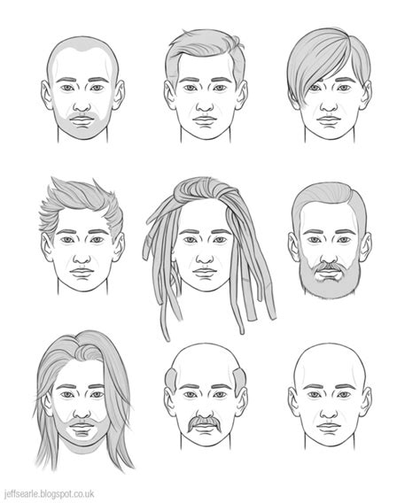 guy hairstyles drawing jeff searle drawing hair