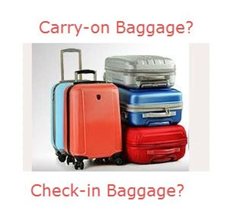 what is the allowed carry on bag and check in baggage rate what is the allowed carry on bag and check in baggage rate