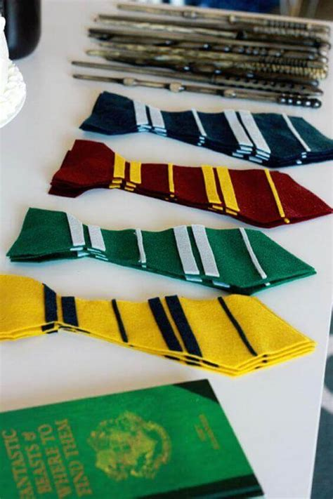 harry potter felt ties 29 creative harry potter party ideas spaceships and