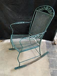 metal patio furniture rocking chair