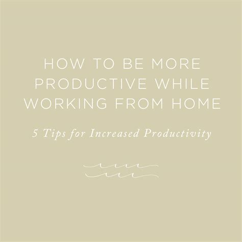 how to be more productive while working from home rising