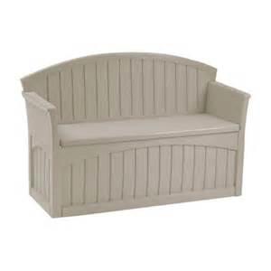 suncast 50 gallon patio bench suncast 50 gallon patio storage bench reviews wayfair