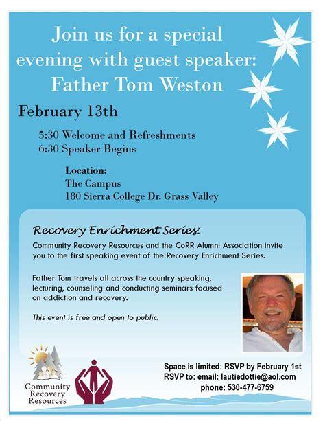 special guest speaker father tom weston kicks