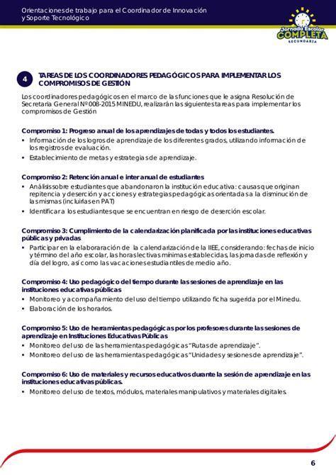 imagenes jornada escolar completa orientaciones para coordinador pedagogico de jornada