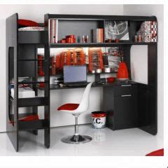lit mezzanine ado avec bureau et rangement lit mezzanine pour adolescent en promotion meubles