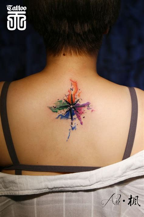 watercolor tattoo compass watercolor compass my works