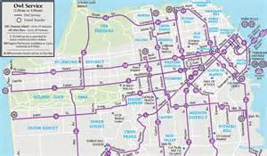 Big Bus San Francisco Map by The Walking Bostonian Late Night Service On The T